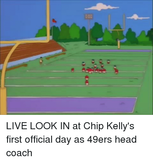 Chip Kelly: LIVE LOOK IN at Chip Kelly's first official day as 49ers head coach