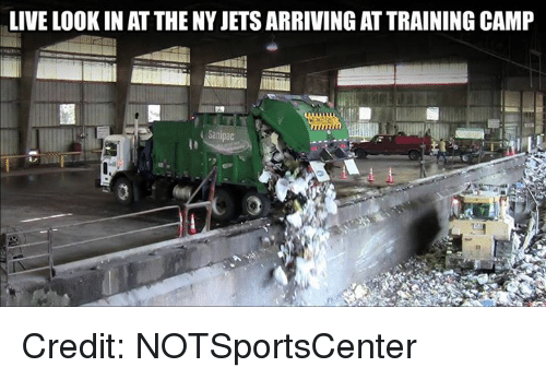 Nfl, Jets, and Live: LIVE LOOK IN AT THE NY JETS ARRIVING AT TRAINING CAMP Credit: NOTSportsCenter