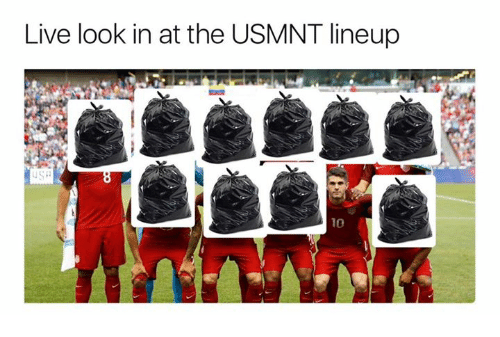 usmnt: Live look in at the USMNT lineup  10