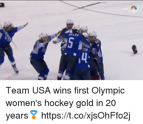 Hockey, Memes, and Live: LIVE  MELLER  ER  4 Team USA wins first Olympic women's hockey gold in 20 years🥇 https://t.co/xjsOhFfo2j