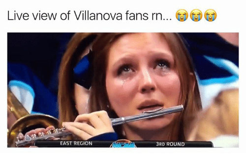 Villanova: Live view of Villanova fans rn  EAST REGION  3RD ROUND