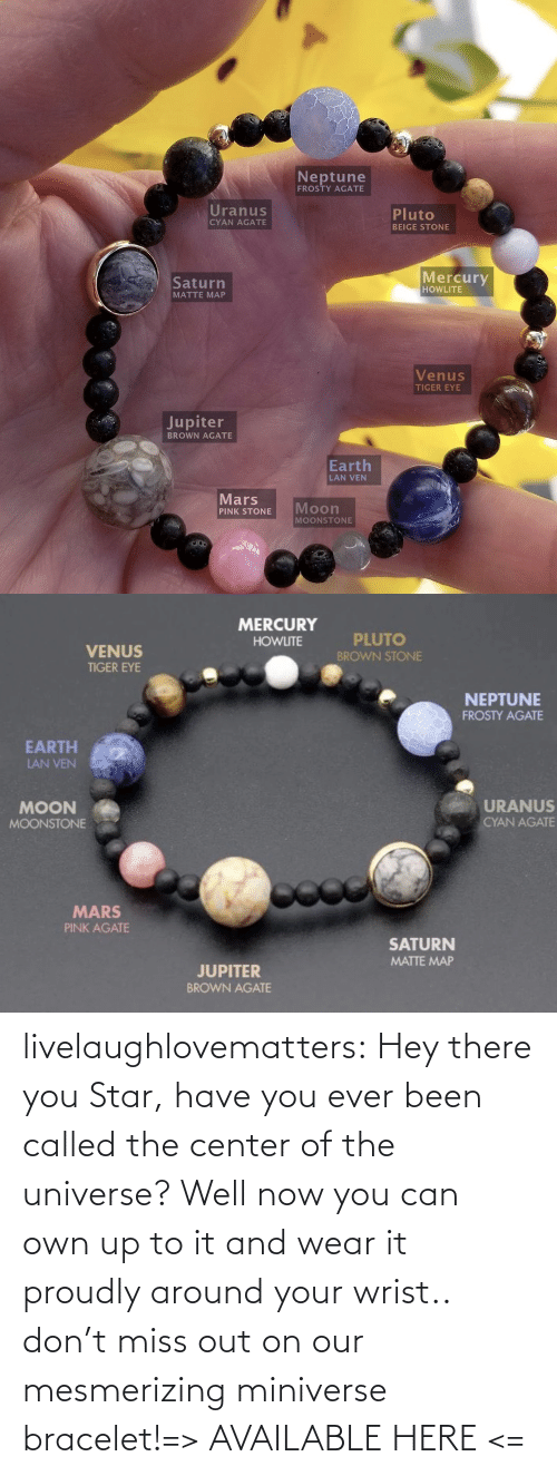 the universe: livelaughlovematters:  Hey there you Star, have you ever been called the center of the universe? Well now you can own up to it and wear it proudly around your wrist.. don't miss out on our mesmerizing miniverse bracelet!=> AVAILABLE HERE <=