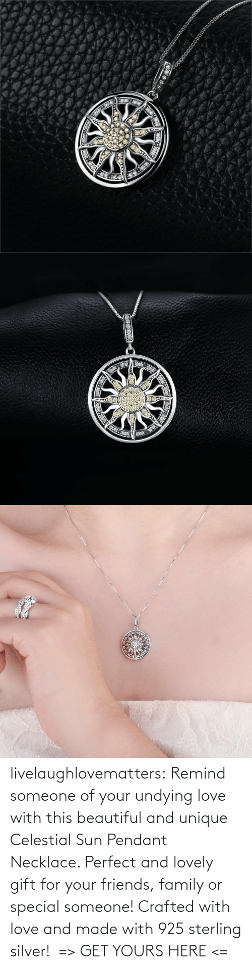 celestial: livelaughlovematters: Remind someone of your undying love with this beautiful and unique Celestial Sun Pendant Necklace. Perfect and lovely gift for your friends, family or special someone! Crafted with love and made with 925 sterling silver! => GET YOURS HERE <=