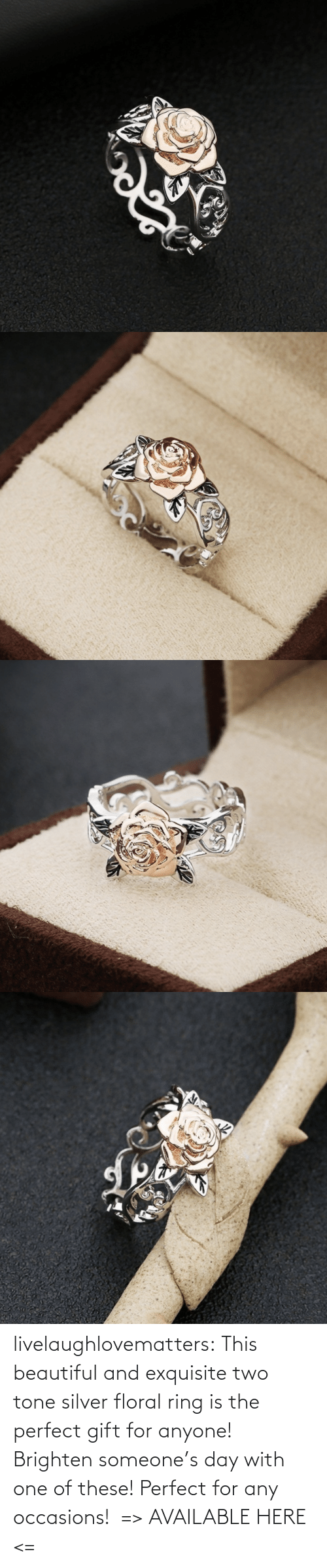 Silver: livelaughlovematters: This beautiful and exquisite two tone silver floral ring is the perfect gift for anyone! Brighten someone's day with one of these! Perfect for any occasions!  => AVAILABLE HERE <=