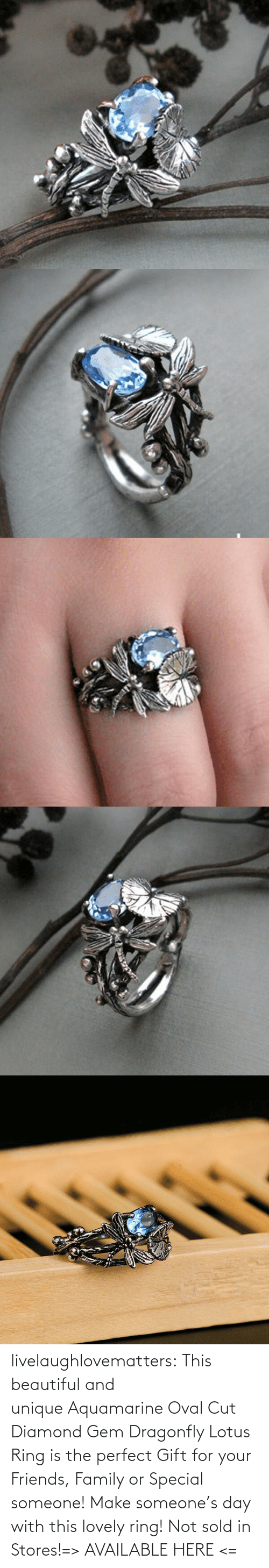ring: livelaughlovematters:  This beautiful and unique Aquamarine Oval Cut Diamond Gem Dragonfly Lotus Ring is the perfect Gift for your Friends, Family or Special someone! Make someone's day with this lovely ring! Not sold in Stores!=> AVAILABLE HERE <=