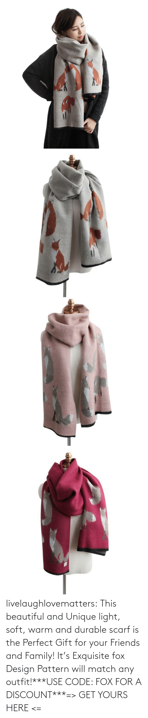 Discount: livelaughlovematters:  This beautiful and Unique light, soft, warm and durable scarf is the Perfect Gift for your Friends and Family! It's Exquisite fox Design Pattern will match any outfit!***USE CODE: FOX FOR A DISCOUNT***=> GET YOURS HERE <=