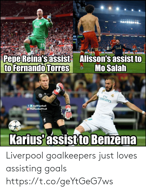 Liverpool F.C.: Liverpool goalkeepers just loves assisting goals https://t.co/geYtGeG7ws