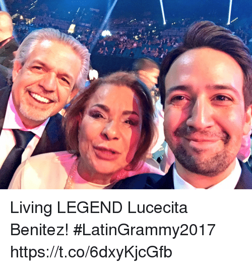 Memes, Living, and 🤖: Living LEGEND Lucecita Benitez! #LatinGrammy2017 https://t.co/6dxyKjcGfb