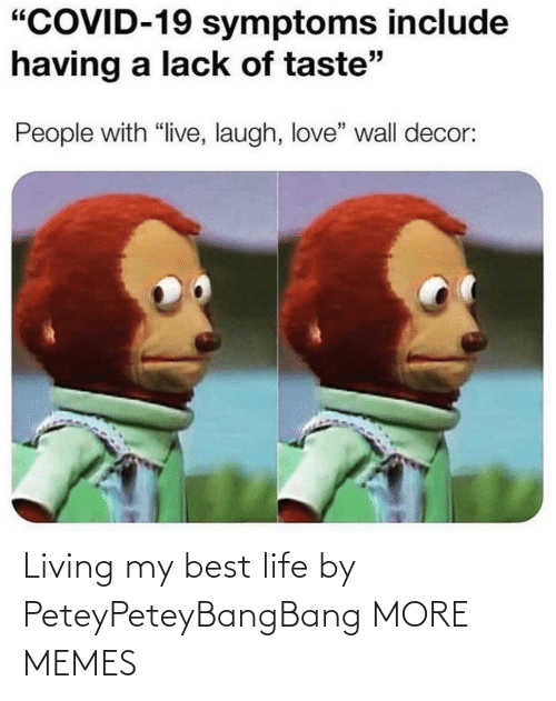 Living: Living my best life by PeteyPeteyBangBang MORE MEMES