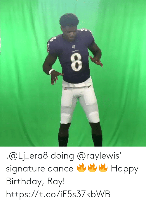 Happy Birthday: .@Lj_era8 doing @raylewis' signature dance 🔥🔥🔥  Happy Birthday, Ray! https://t.co/iE5s37kbWB