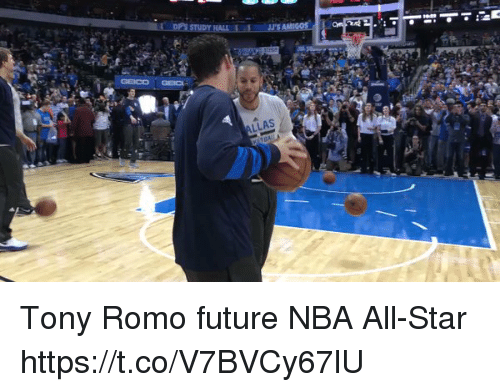 All Star, Future, and Nba: LLAS Tony Romo future NBA All-Star https://t.co/V7BVCy67lU