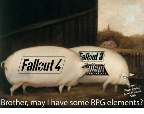 dialogues: llgut  Fallkut4  NEW VEGAS  Story  Player Choice  Good Dialogue  Brother, may I have some RPG elements?