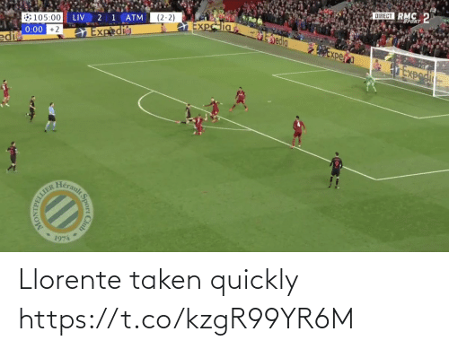 Quickly: Llorente taken quickly https://t.co/kzgR99YR6M