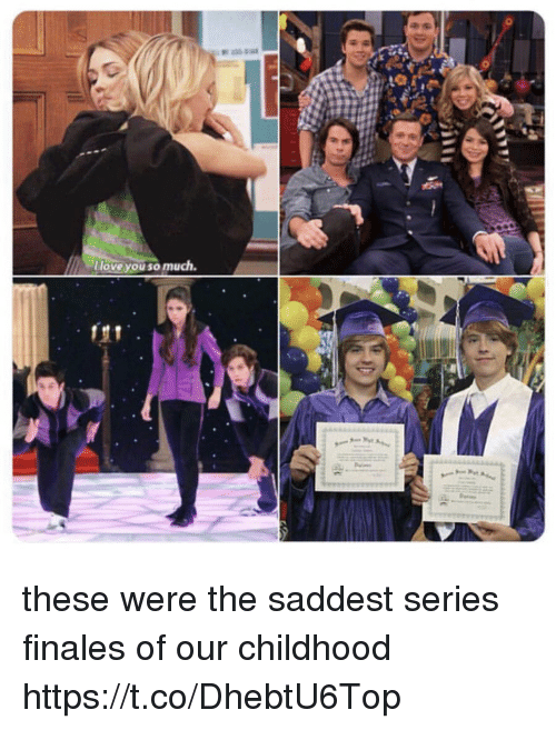 Memes, 🤖, and Series: lloveYOU S0 much these were the saddest series finales of our childhood https://t.co/DhebtU6Top