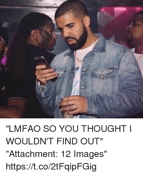 """Funny, Images, and Lmfao: """"LMFAO SO YOU THOUGHT I WOULDN'T FIND OUT""""   """"Attachment: 12 Images"""" https://t.co/2tFqipFGig"""