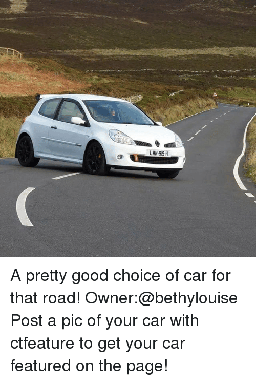 Post A Pic: LMN-919-H A pretty good choice of car for that road! Owner:@bethylouise Post a pic of your car with ctfeature to get your car featured on the page!