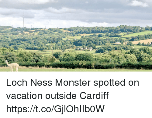 cardiff: Loch Ness Monster spotted on vacation outside Cardiff https://t.co/GjlOhIIb0W