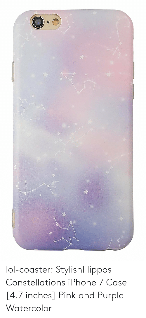 7 Inches: lol-coaster:  StylishHippos Constellations iPhone 7 Case [4.7 inches] Pink and Purple Watercolor