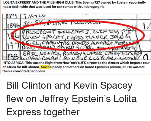 "Former Secret Service Agent Threatens To Reveal Details About Bill Clinton And Epstein's ""Lolita Express"" Lolita-express-and-the-mile-high-club-this-boeing-727-owned-28675528"