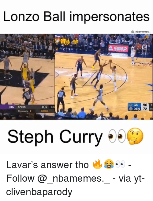 Lonzo Ball Basketball Reference >> 25+ Best Memes About Steph Curry | Steph Curry Memes