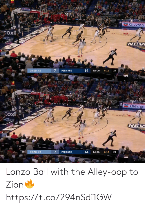 Lonzo Ball: Lonzo Ball with the Alley-oop to Zion🔥 https://t.co/294nSdi1GW