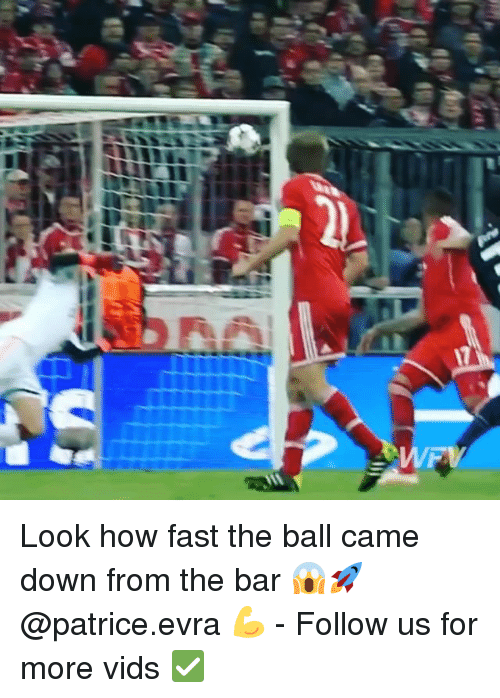 evra: Look how fast the ball came down from the bar 😱🚀 @patrice.evra 💪 - Follow us for more vids ✅