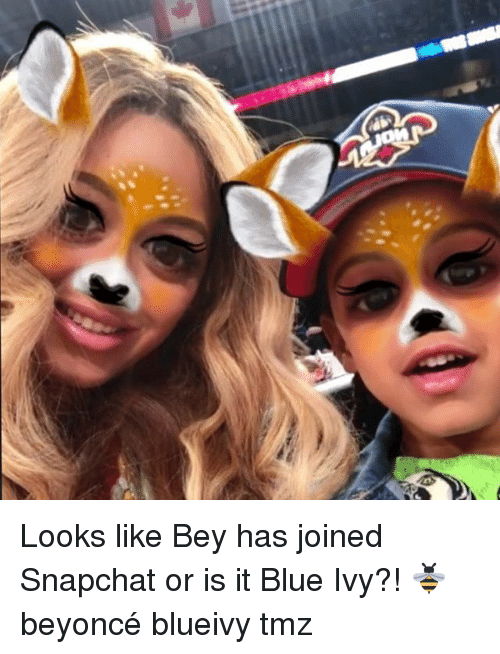Blue Ivy: Looks like Bey has joined Snapchat or is it Blue Ivy?! 🐝 beyoncé blueivy tmz