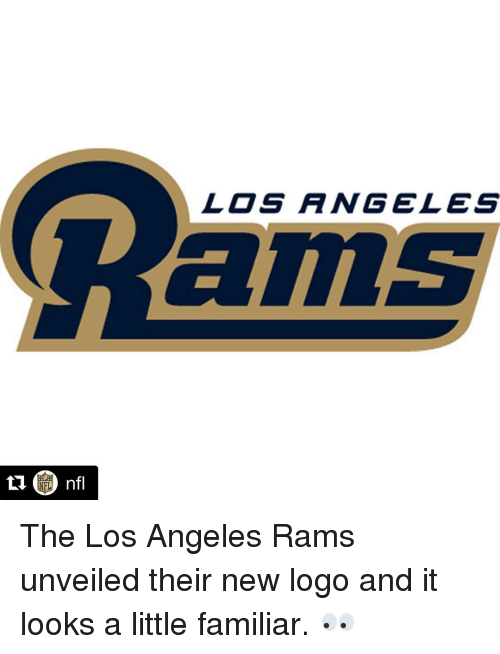 Los Angeles Rams, Sports, and Angel: LOS ANGELES The Los Angeles Rams unveiled their new logo and it looks a little familiar. 👀