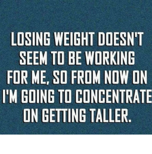Losing Weight: Losing weight