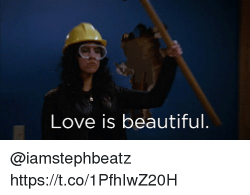 Beautiful, Love, and Memes: Love is beautiful. @iamstephbeatz  https://t.co/1PfhIwZ20H