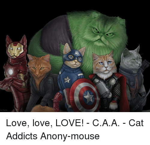 mouses: Love, love, LOVE! - C.A.A. - Cat Addicts Anony-mouse