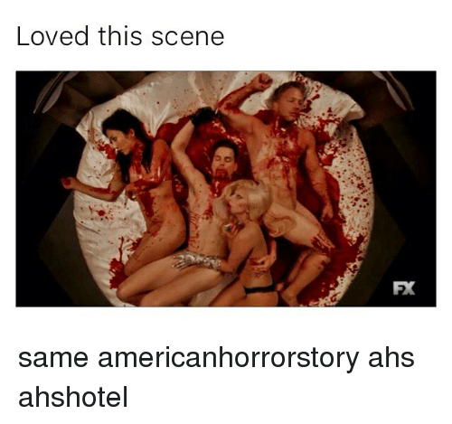 Memes, 🤖, and Fax: Loved this scene  FAX same americanhorrorstory ahs ahshotel