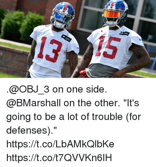 """Memes, 🤖, and The Others: LS .@OBJ_3 on one side. @BMarshall on the other.  """"It's going to be a lot of trouble (for defenses)."""" https://t.co/LbAMkQlbKe https://t.co/t7QVVKn6lH"""