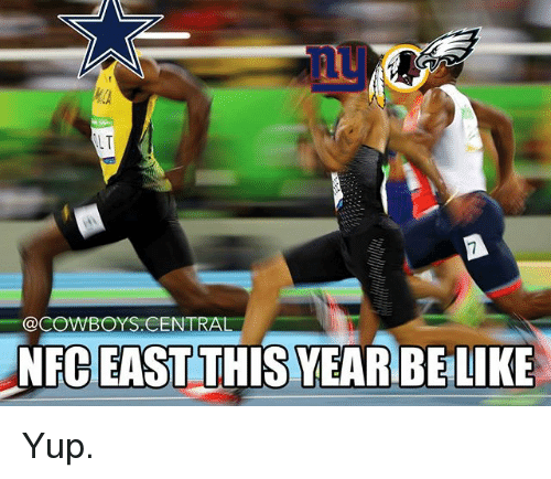 Dallas Cowboys, Memes, and Cent: LT  @COWBOYS.CENT  RA  NFC THISYEARBELIKE  EAST Yup.