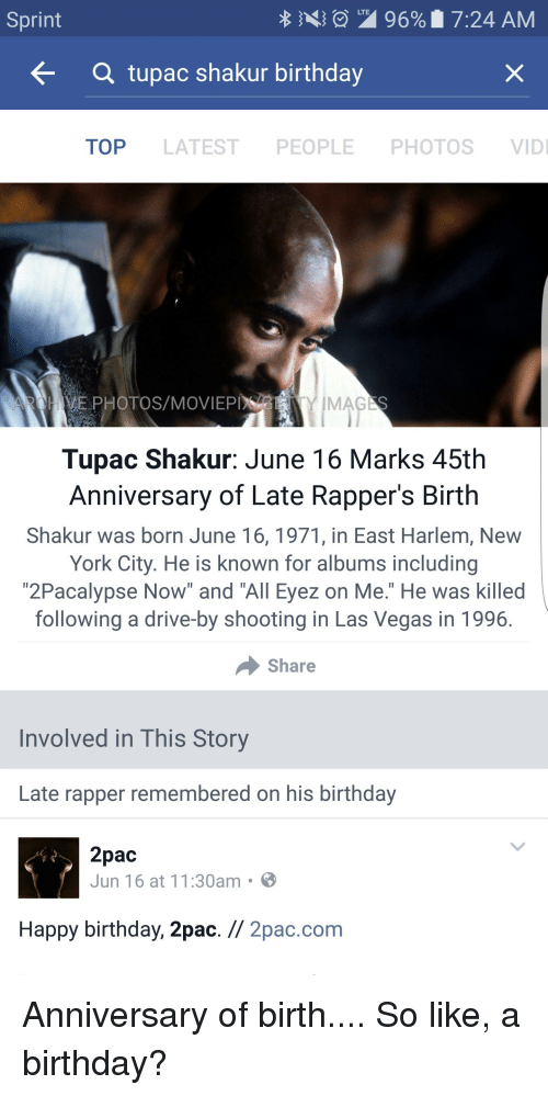 Tupac shakur date of birth in Melbourne