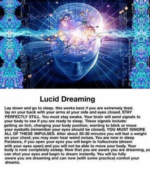 lucid dreaming asleep and aware essay 'lucid dreaming seems to consist of waking awareness intruding into dreams and sleep paralysis of dream imagery intruding into waking consciousness' conesa-sevilla has developed specific, highly honed techniques to help us move from one blended state to the other.