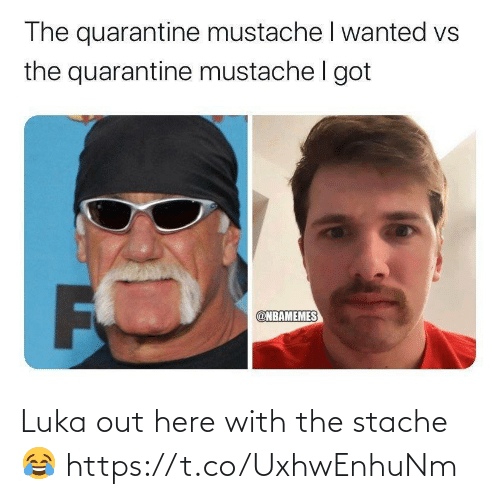 stache: Luka out here with the stache 😂 https://t.co/UxhwEnhuNm