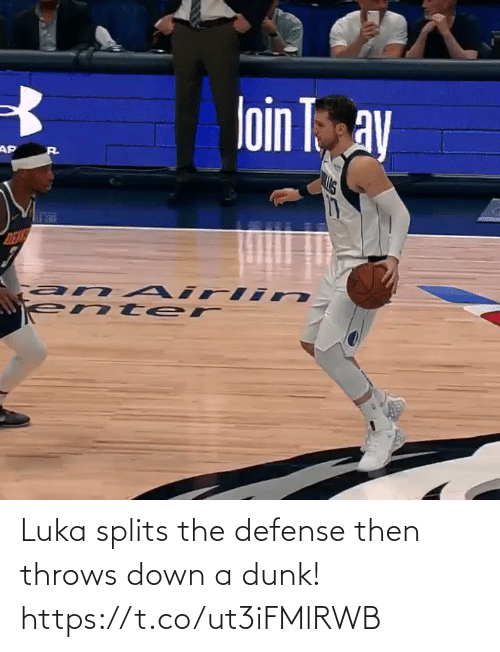 defense: Luka splits the defense then throws down a dunk!   https://t.co/ut3iFMlRWB