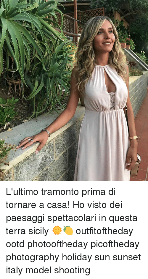 modelling: L'ultimo tramonto prima di tornare a casa! Ho visto dei paesaggi spettacolari in questa terra sicily 🌞🍋 outfitoftheday ootd photooftheday picoftheday photography holiday sun sunset italy model shooting