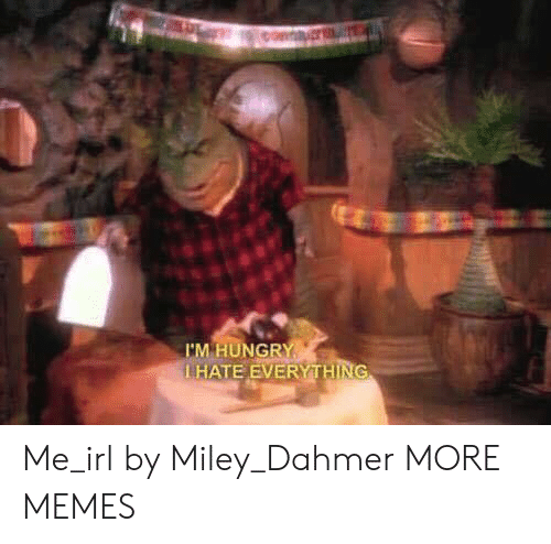 Miley Cyrus: 'M HUNG  LHATE EVERYTHING Me_irl by Miley_Dahmer MORE MEMES