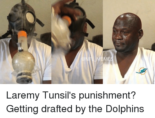 Dolphin, Dolphins, and Laremy Tunsil: M Laremy Tunsil's punishment? Getting drafted by the Dolphins