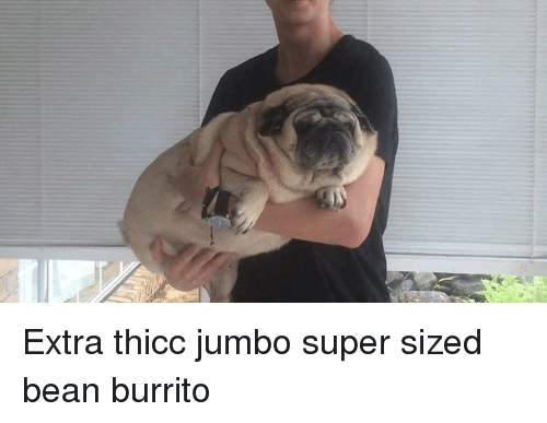 Super, Burrito, and Bean: m1m777 Extra thicc jumbo super sized bean burrito