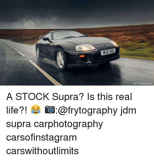 supra: M32 VDC  FRY TO GRAPH Y A STOCK Supra? Is this real life?! 😂 📷:@frytography jdm supra carphotography carsofinstagram carswithoutlimits