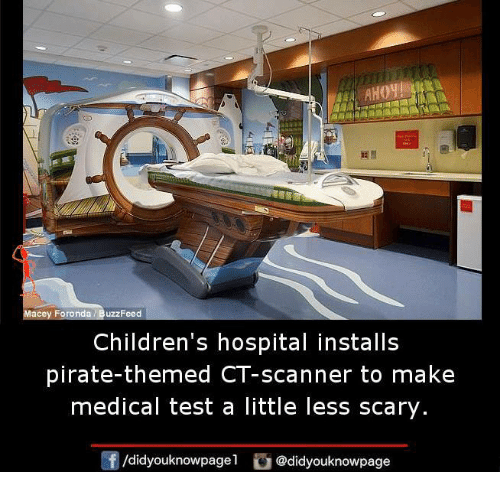 scanners: Macey Foronda BuzzFeed  Children's hospital installs  pirate-themed CT-scanner to make  medical test a little less scary  /didyouknowpagel Cu  @didyouknowpage