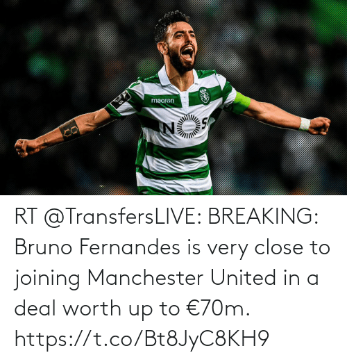 Manchester United: macron RT @TransfersLlVE: BREAKING: Bruno Fernandes is very close to joining Manchester United in a deal worth up to €70m. https://t.co/Bt8JyC8KH9