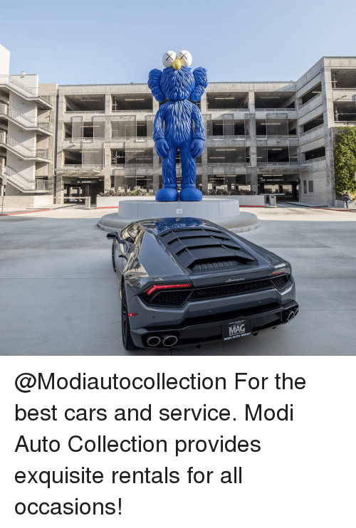 modi: MAG  MODI AUTO GROUP @Modiautocollection For the best cars and service. Modi Auto Collection provides exquisite rentals for all occasions!