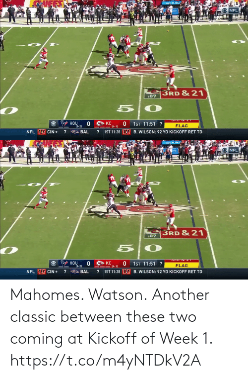 coming: Mahomes. Watson.  Another classic between these two coming at Kickoff of Week 1. https://t.co/m4yNTDkV2A