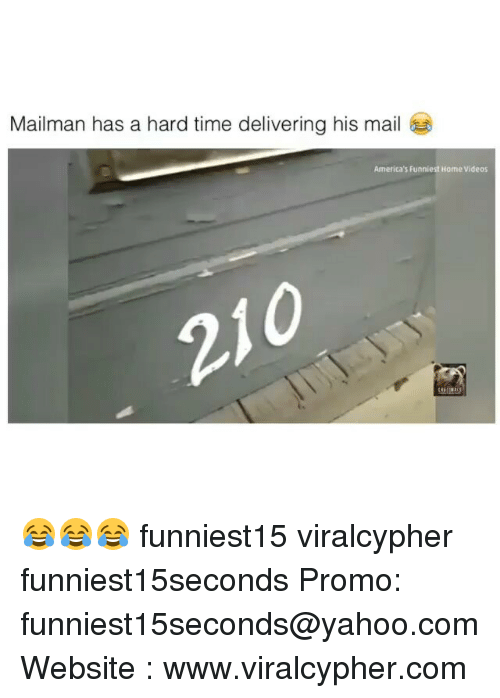 Funny, Videos, and Home: Mailman has a hard time delivering his mail  America's Funniest Home Videos 😂😂😂 funniest15 viralcypher funniest15seconds Promo: funniest15seconds@yahoo.com Website : www.viralcypher.com