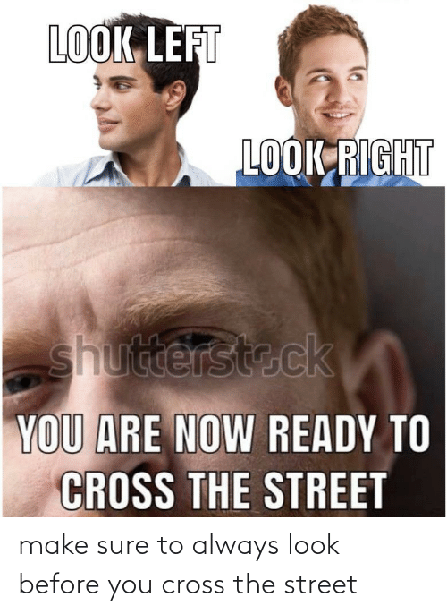 street: make sure to always look before you cross the street