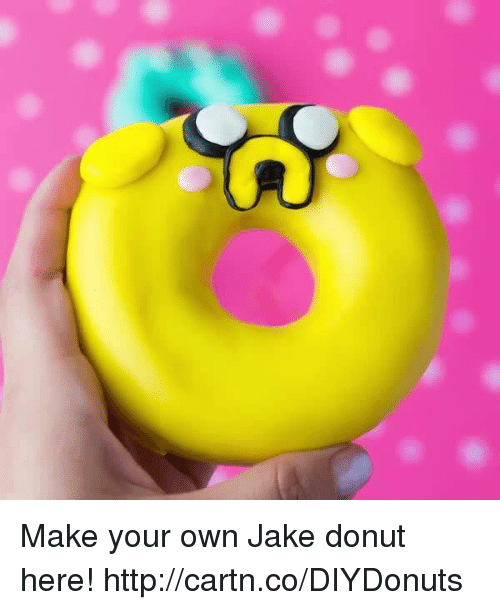 Dank, Http, and 🤖: Make your own Jake donut here! http://cartn.co/DIYDonuts
